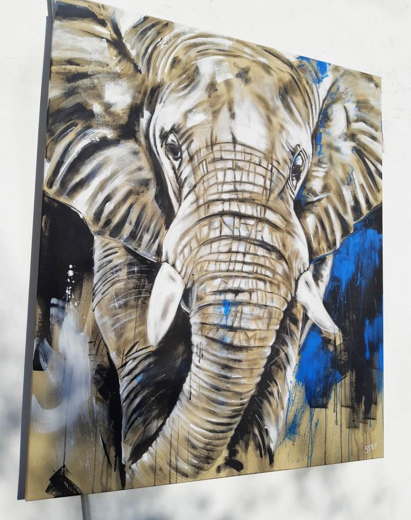Original Gemälde Elefant #6
