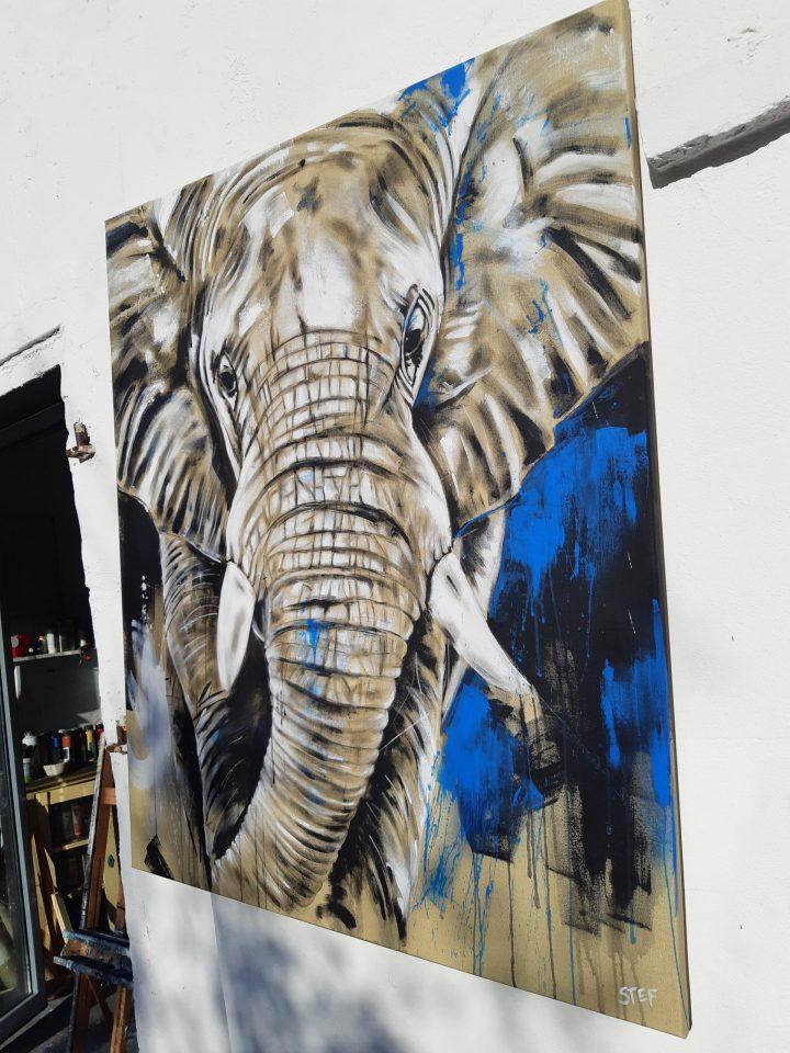 Original Gemälde Elefant 16