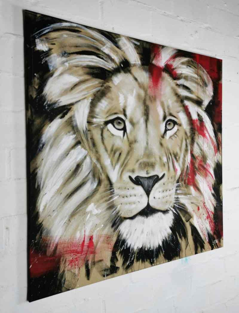 Löwe Gemälde modern
