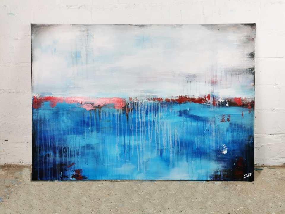 Abstraktes Gemäldes Blau