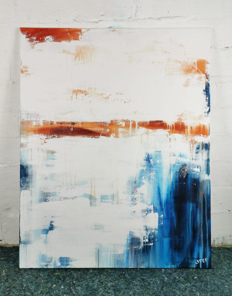abstraktes modernes Acrylbild