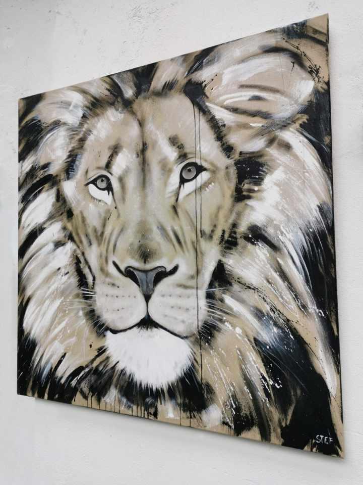 Gemälde Löwe Löwenkopf