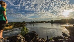 Ngonye-Falls im Morgenlicht