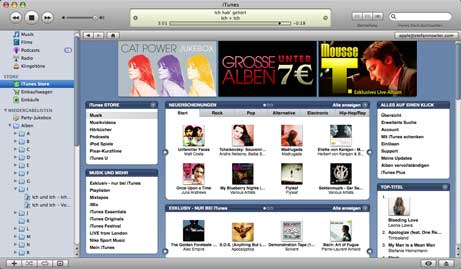 Screenshot iTunes