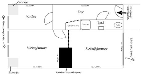 Lageplan: Harscampstraße 50, 4. OG, vorne