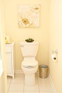 New toilet area
