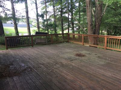 Deck Refinishing, before