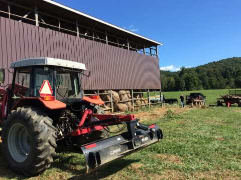 Hay Barn Modification in Floyd, Virginia to keep the rain out