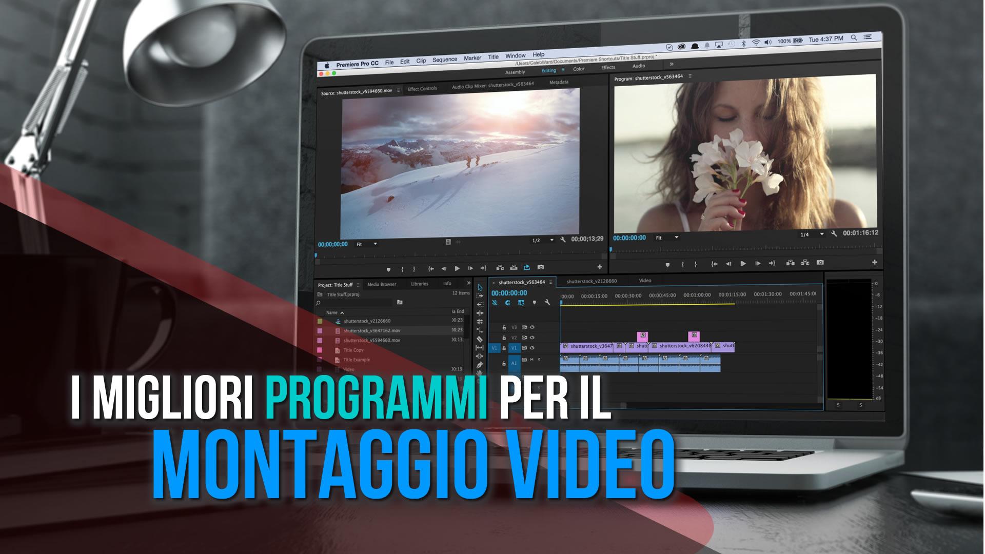 I migliori programmi per il montaggio video digitale for Software per rendering