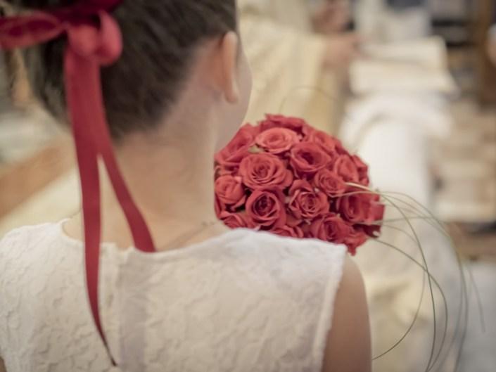 Bouquet Rotondo Rose Rosse
