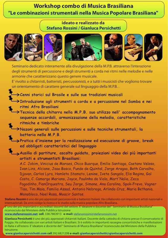 Workshop combo nella M.P.B. ... Stefano Rossini scuola di percussioni Roma