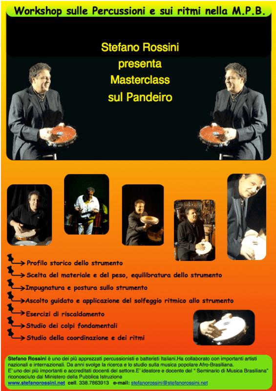 Masterclass di Pandeiro...  Stefano Rossini scuola di percussioni Roma