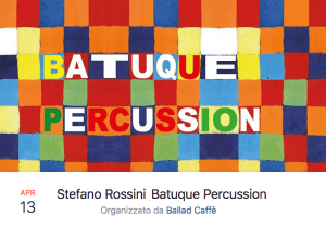 13-04-2018 Stefano Rossini_Batuque Percussion