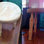 Turning a stool