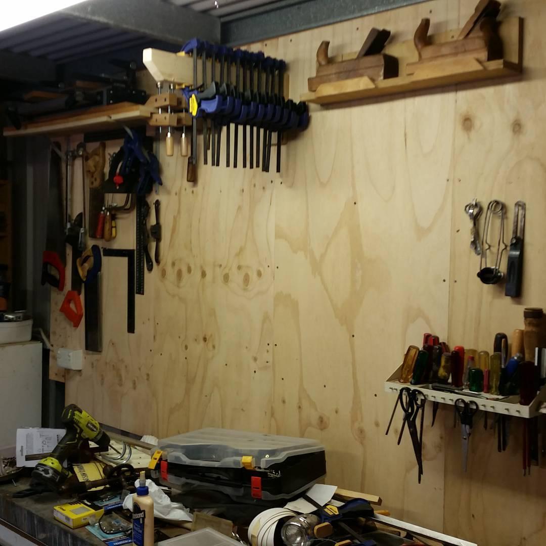 Tool wall coming along
