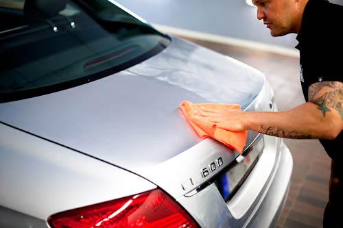 Rekond och bilvård av en Kleemann Mercedes