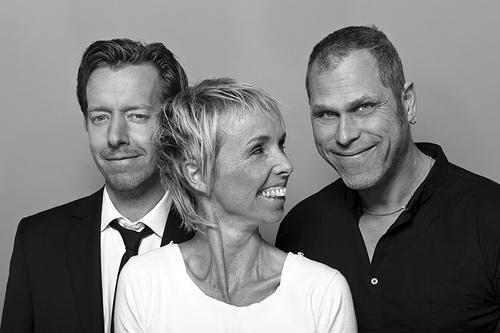 Lobbyn: Erik Löfmarck, Agneta Wallin & Lasse Nilsen. Fotograf Stefan Tell