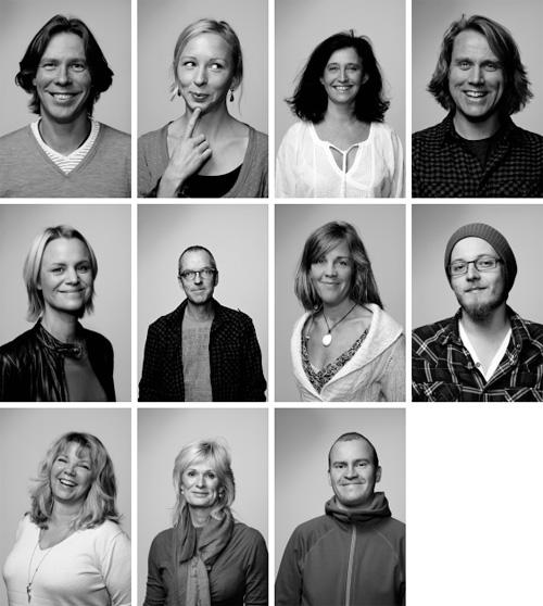Personalfotografering - Kollage av medarbetare/kollegor. Fotograf Stefan Tell