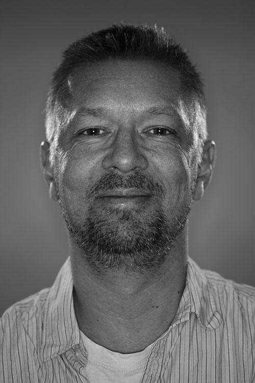 Orbis ringblixt, första testet för porträtt i fotostudio. Fotograf Stefan Tell