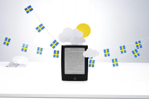 Oretuscherad reklambild från produktfotografering av läsplattan Letto. Fotograf Stefan Tell