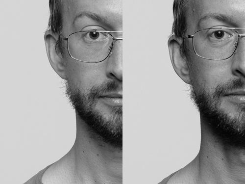 Porträtt, mer kontrast i kanterna, fotostudio. Använda flaggor eller svart vikvägg. Fotograf Stefan Tell