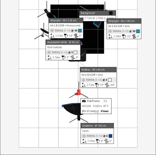 ljussättningsdiagram-program-mjukvara-datorn-testa-fotograf