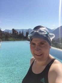 Perfekte Bedingungen fürs Schwimmen gab's in Schenna im Hotel Finkennest.