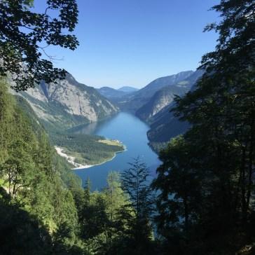 Blick auf den Königssee vom Sageckersteig.