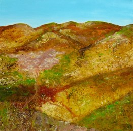 Original Abstract Landscape Acrylic and mixed media on canvas