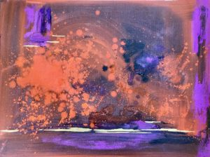Abstract painting in mixed media by Steffi Goddard