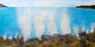 Beach Seascape Art Beach Splash Series - Oil on canvas