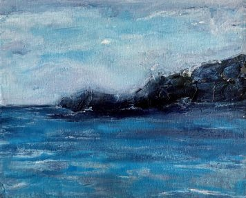 Dramatic seas around the headland at Marina del Este, Spain