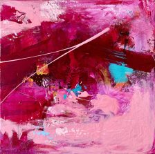 Bougainvillea in an abstract painting