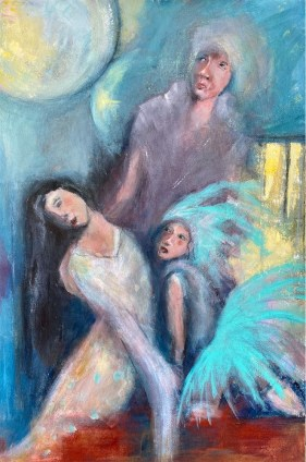Painting with 3 women