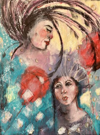 Fragile Like a Red Balloon - Original Available - 75 x 100 cms Mixed Media On Canvas