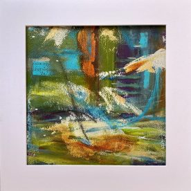 40 x 40 cms mixed media on Fabriano paper with mount £/Euros 155.00