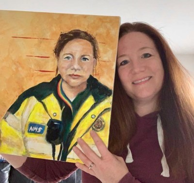 Portrait painted for the #portraitsfornhsheroes initiative on Instagram