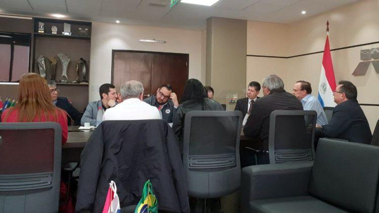 Secretario del STEIBI reunido con el nuevo Director General de Itaipú