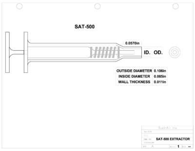 SAT-500 EXTRACTOR DRAWING