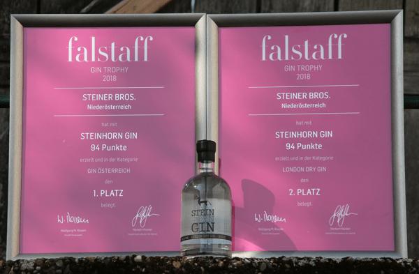 Falstaff Urkunden Steinhorn Gin