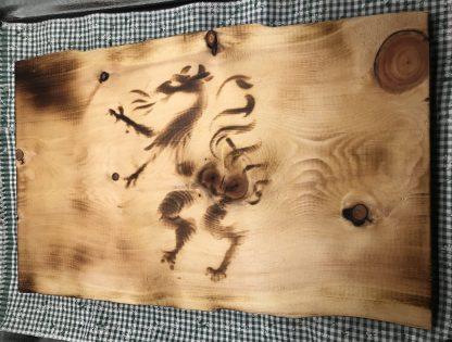 Zirbenholz Brettljause - Aufschnittplatte geölt und geflämmt