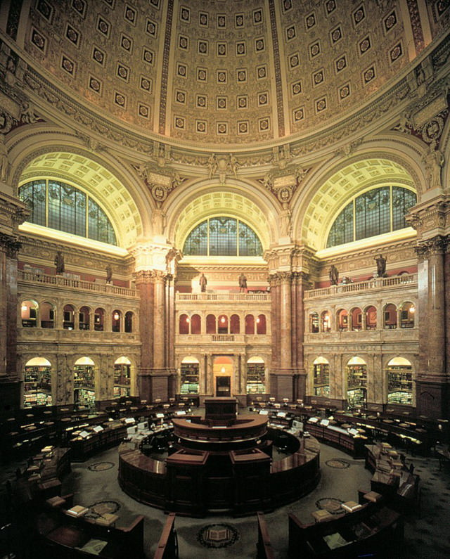 Sala Principala de Lectura Library of Congress -Washington