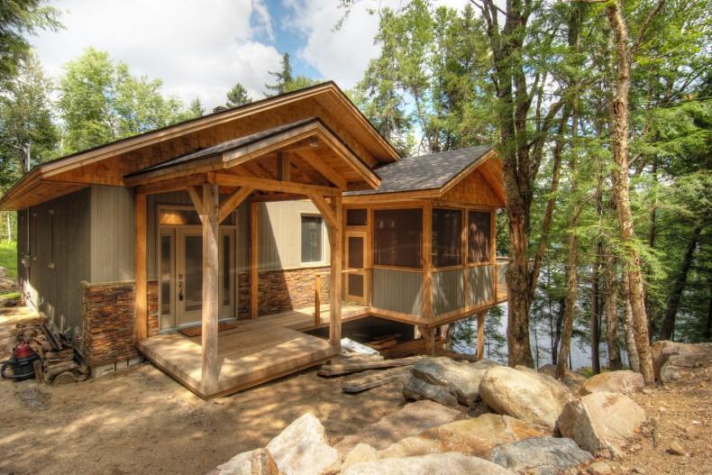 lemn si piatra pentru cabana