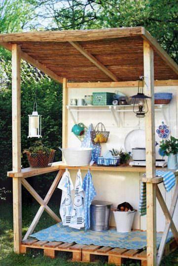 bucatarie in aer liber - chicineta