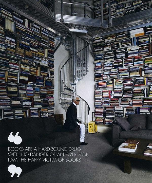 Karl Lagerfeld - lumea cărților