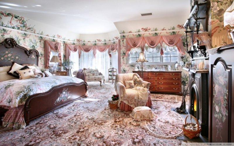 Camera decorata in stil victorian - sibaritism