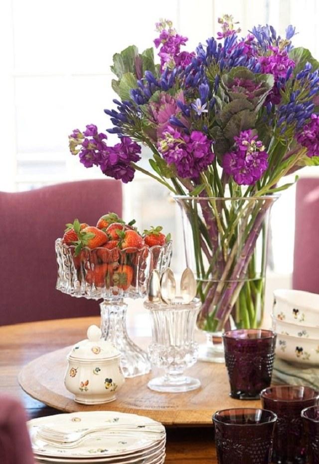 floricele pe masa