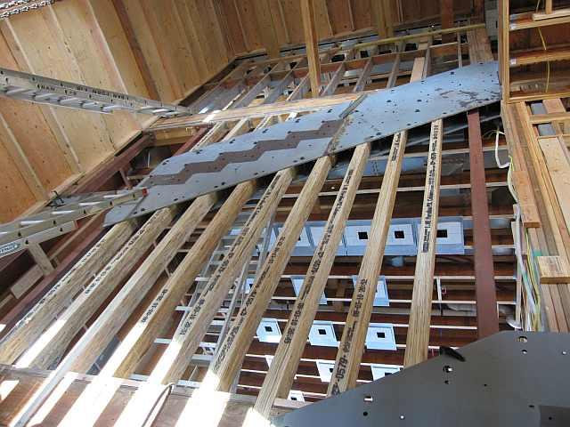 scara lemn metal