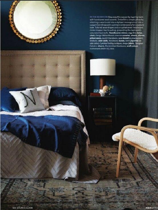 dormitor bleumarin albastrul verde