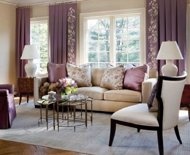 design interior in tonuri de mov lavanda